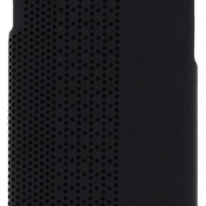 Black Perforated Leather Hard Case